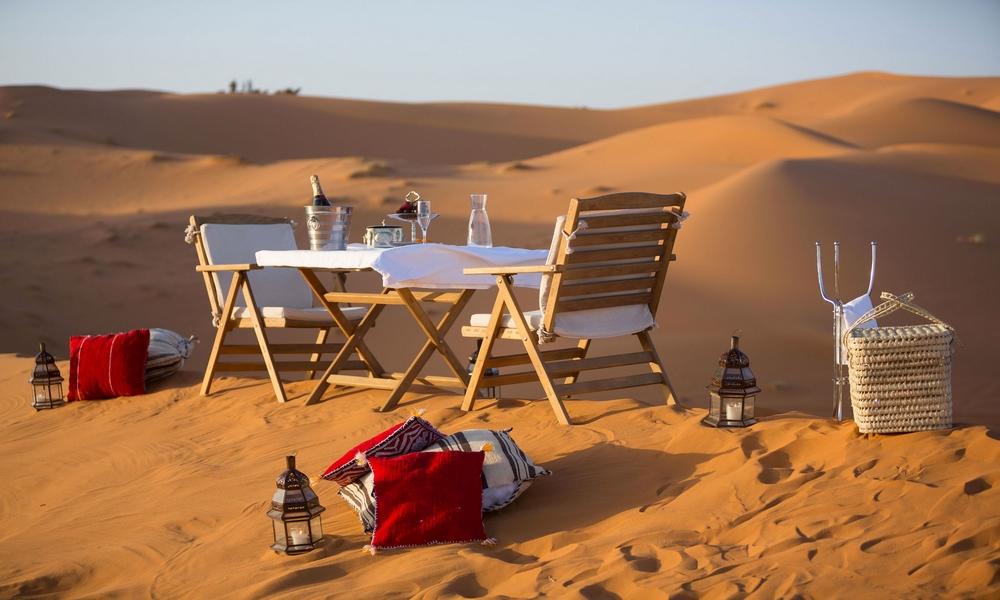 standard luxury desert camping
